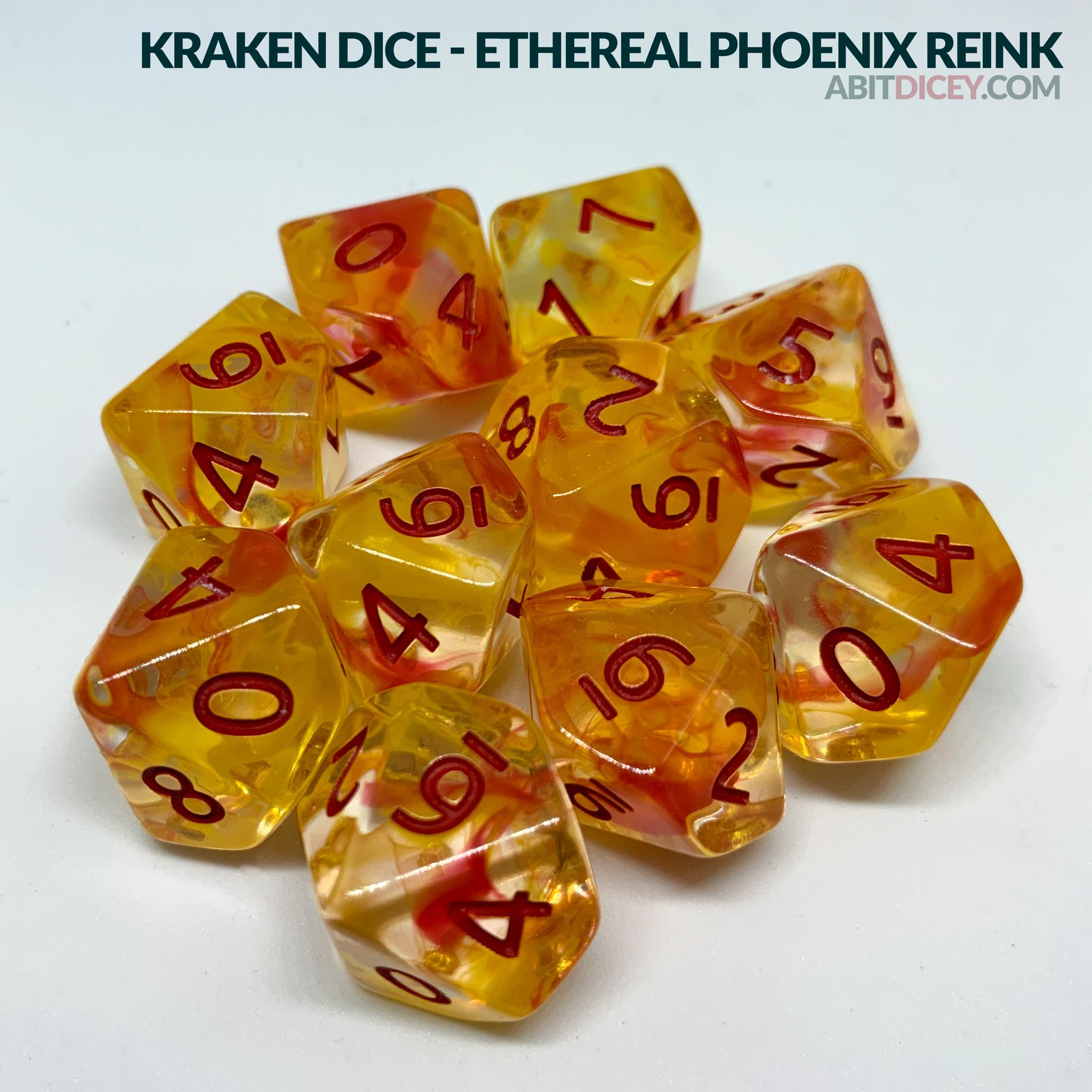 Kraken Dice - Ethereal Phoenix Reink