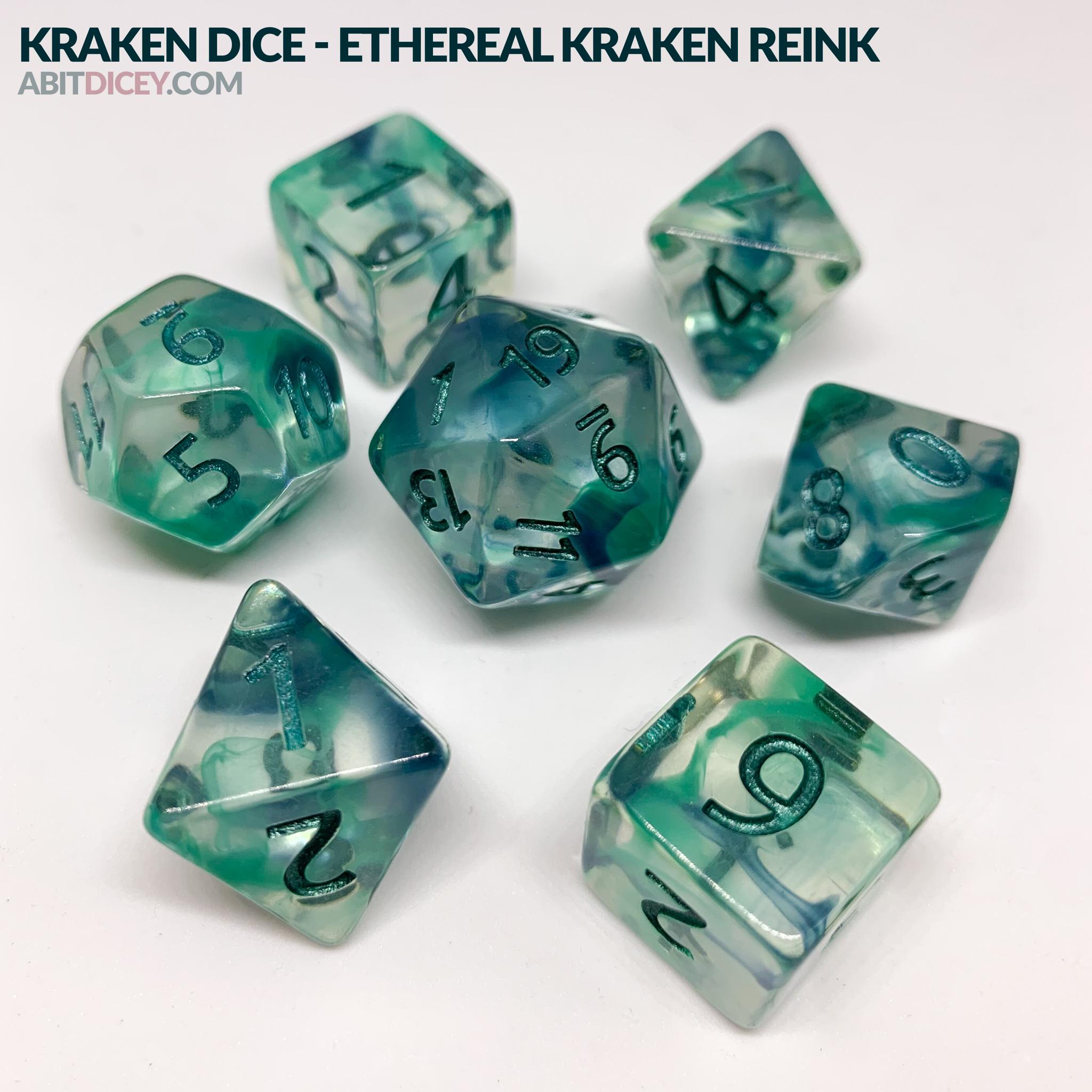 Kraken Dice - Ethereal Kraken Reink