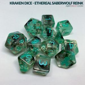 Kraken Dice - Ethereal Saberwolf Reink
