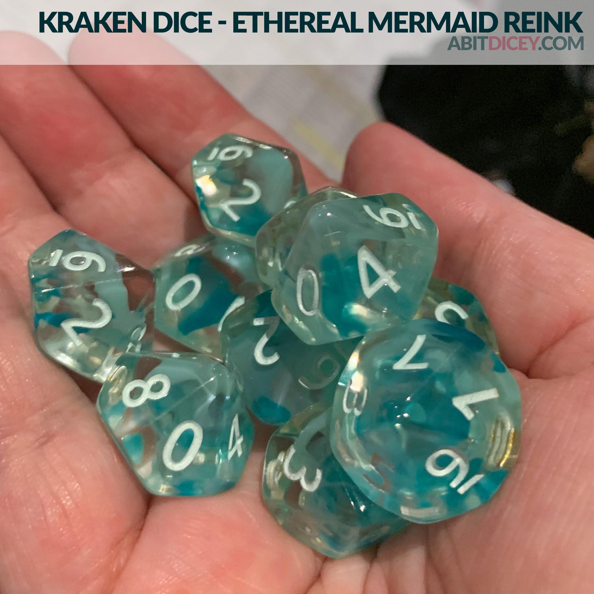 Kraken Dice - Ethereal Mermaid Reink