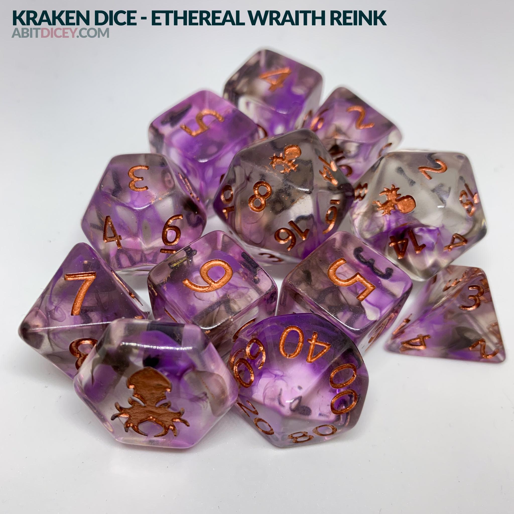 Kraken Dice - Ethereal Wraith Reink