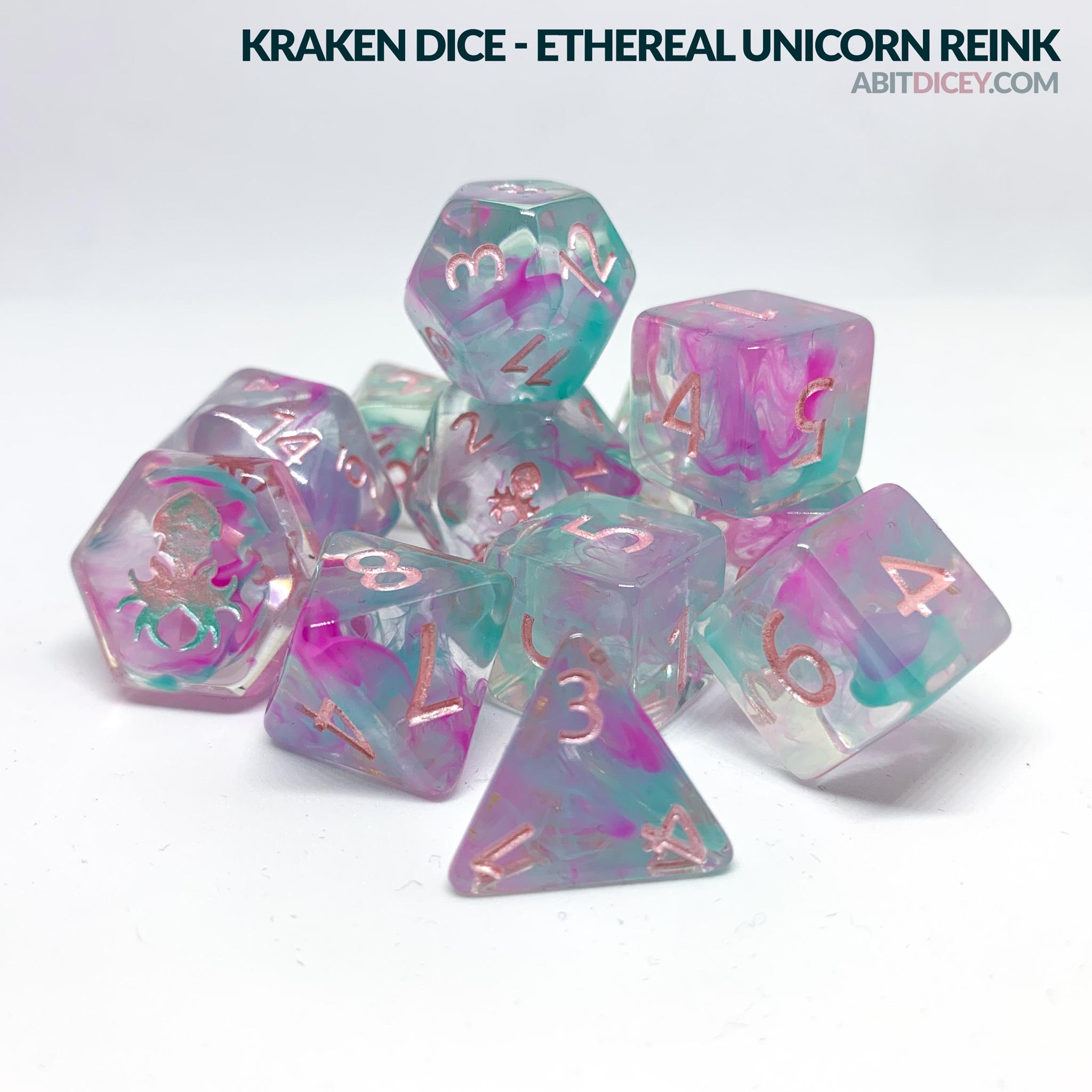 Kraken Dice - Ethereal Unicorn Reink