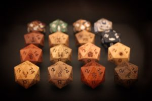Diving Hippo - Pure Wood Family Banner Dice: The Forgotten Family