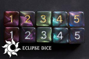 Eclipse Dice - Aurora Lights Kickstarter