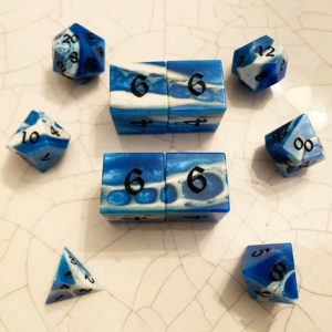 Artisan Dice - Gator Jaw Bone - picture from Melissa of GDH.