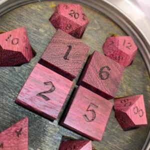 Artisan Dice - Purple Heart - in packaging