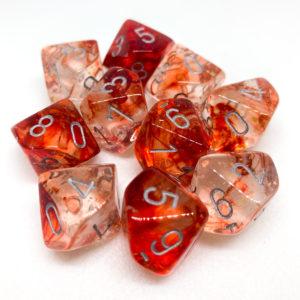 Chessex Nebula Red